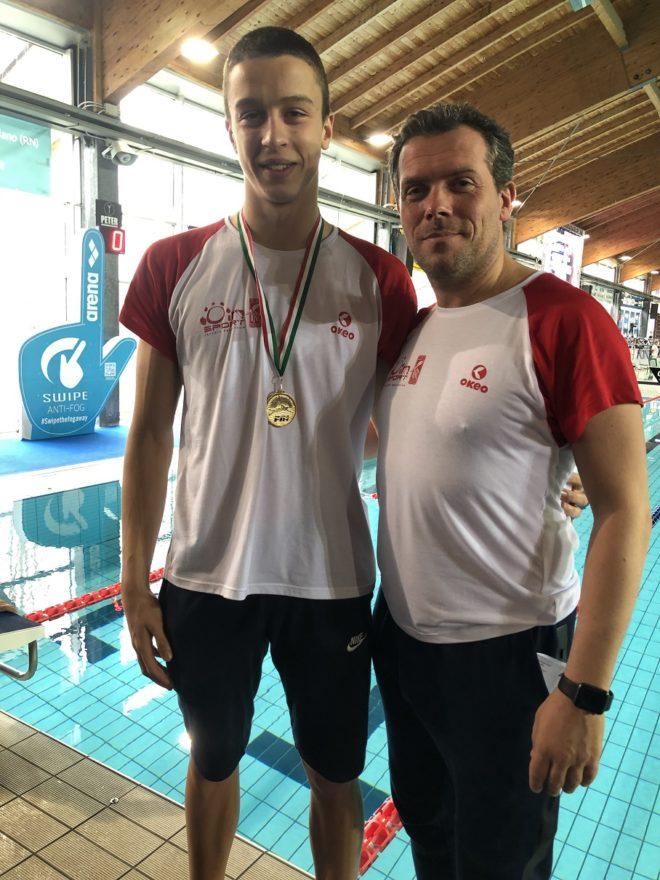 Ancora un successo per Simone Gazzotti nei 50 delfino ai campionati italiani: è oro!